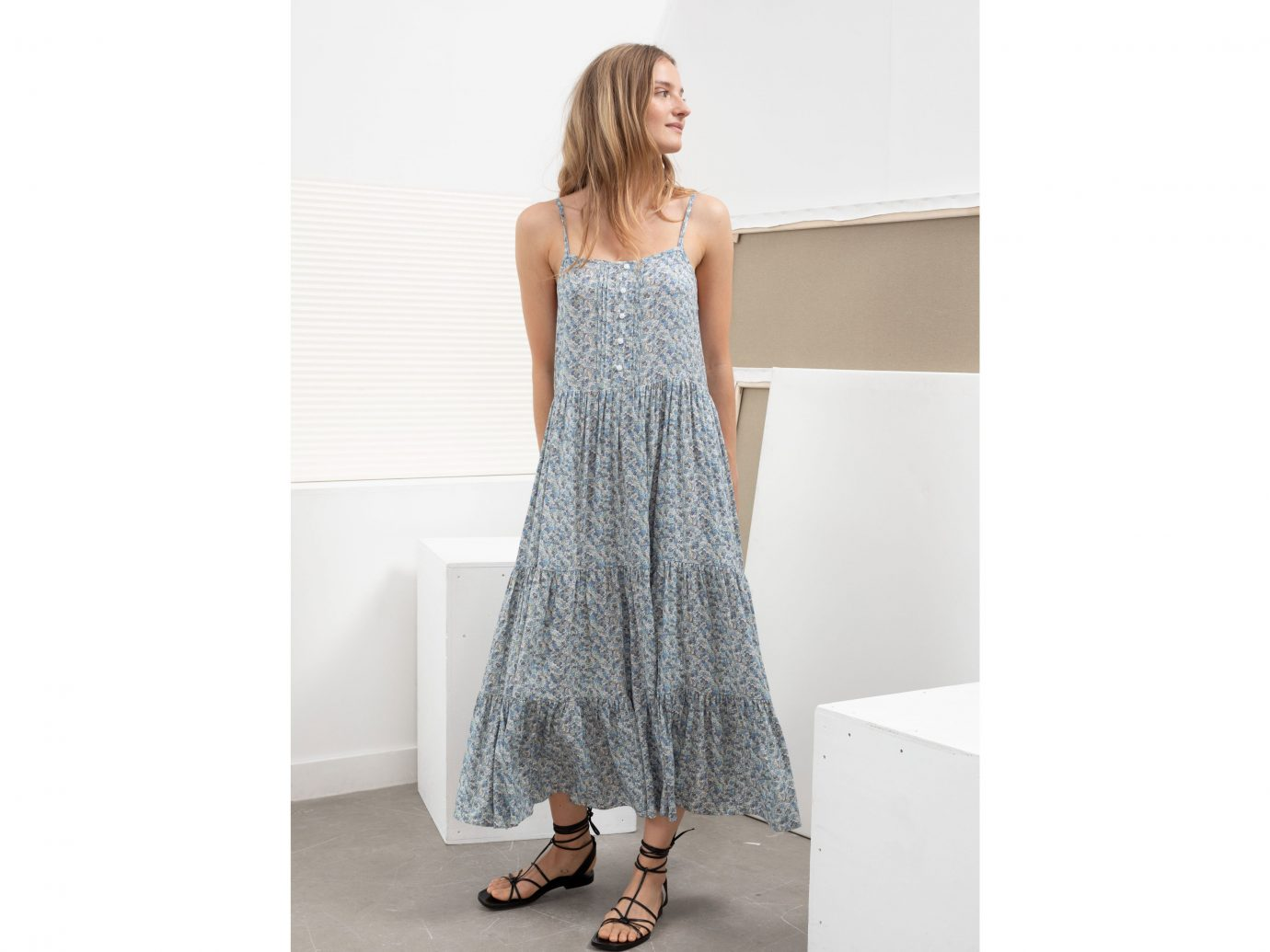 & Other Stories Ruffle Tier Maxi Dress