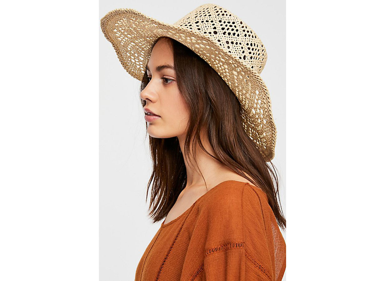 Free People Shadow Play Sun Freckle Straw Hat