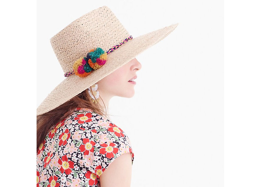 J. Crew Pom Pom Sun Hat