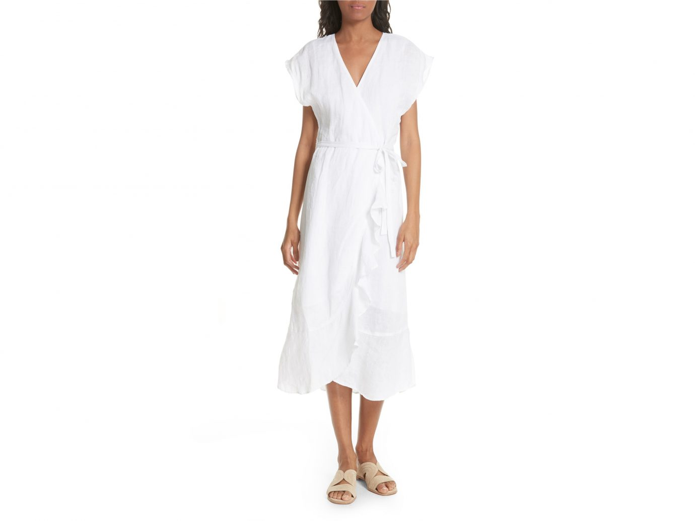 Joie Filma Cutout Linen wrap dress $328