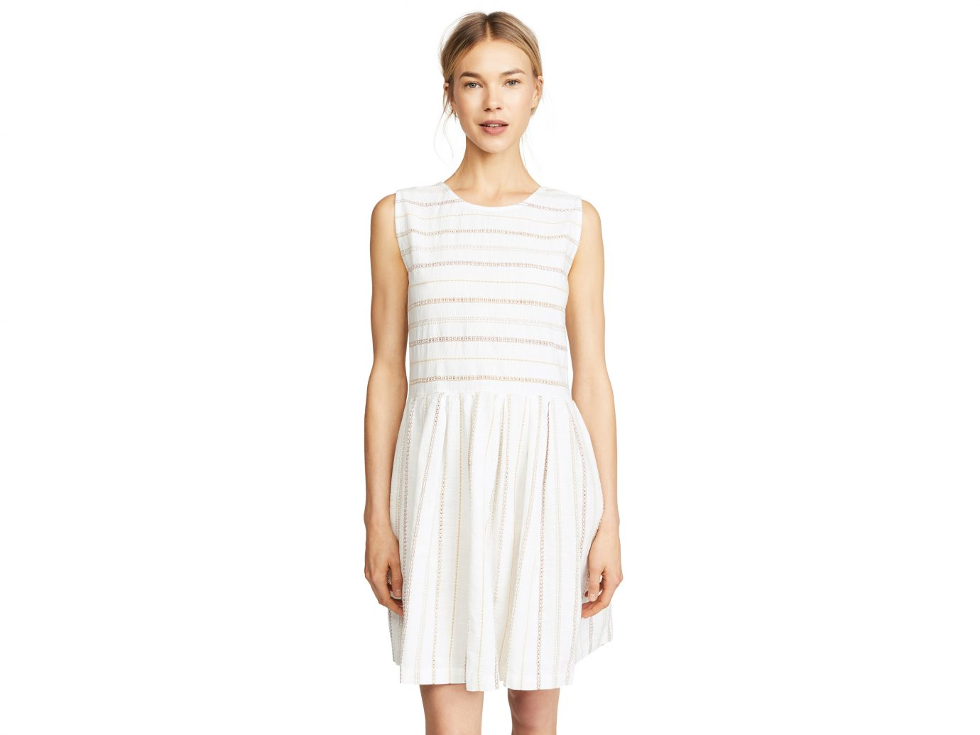 ace & jig Daisy white dress for summer