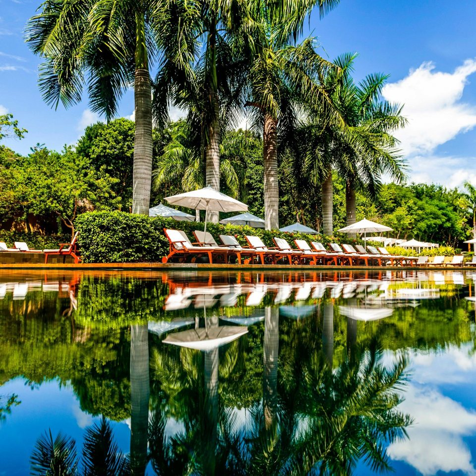 All-inclusive All-Inclusive Resorts Hotels Mexico Riviera Maya, Mexico Trip Ideas water Nature waterway tree sky plant tourist attraction leaf leisure Lake pond Resort landscape bayou botanical garden Canal reflecting pool arecales palm tree bank Garden watercourse