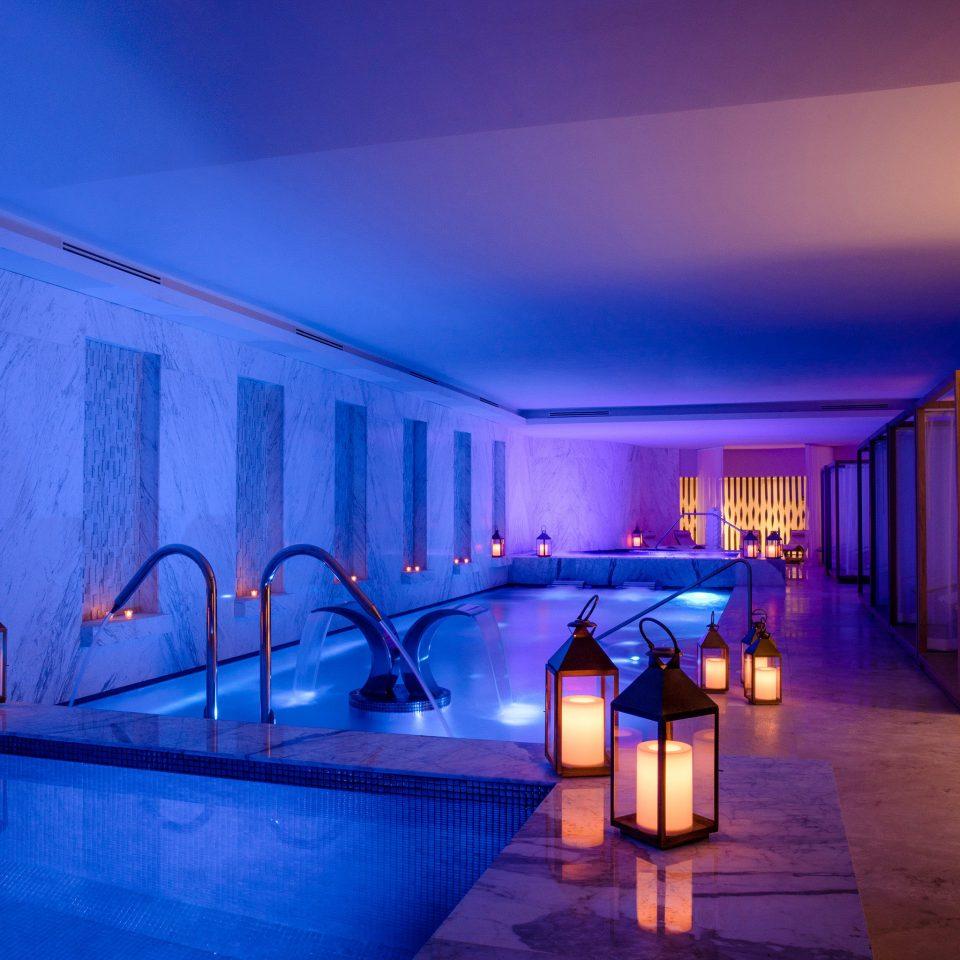 blue light lighting Architecture swimming pool sky amenity