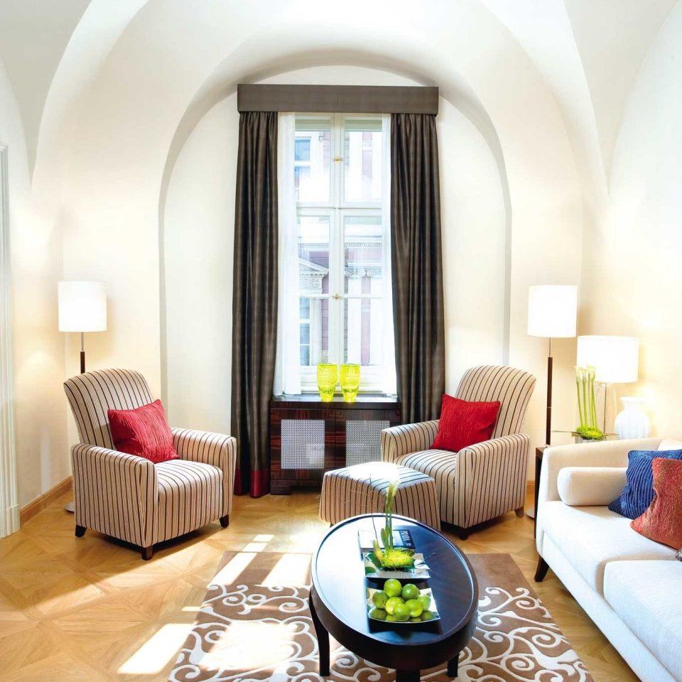 europe Hip Hotels Lounge Luxury Modern Prague Scenic views sofa property living room Suite home cottage Villa Bedroom rug