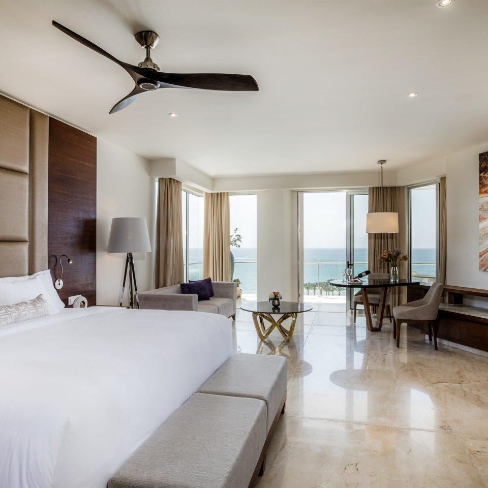 Suite Bedroom white interior designer flooring penthouse apartment