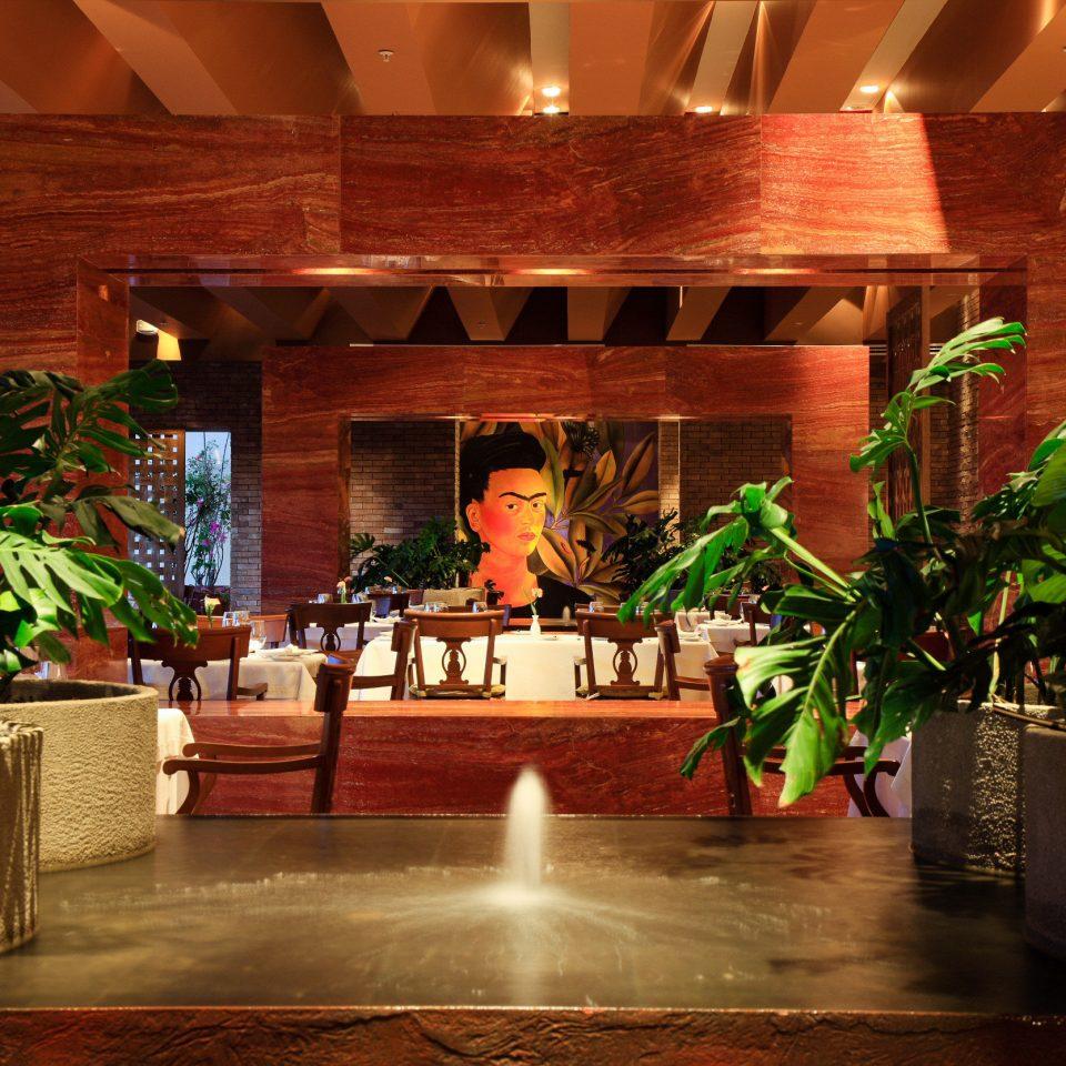 Lobby restaurant plant