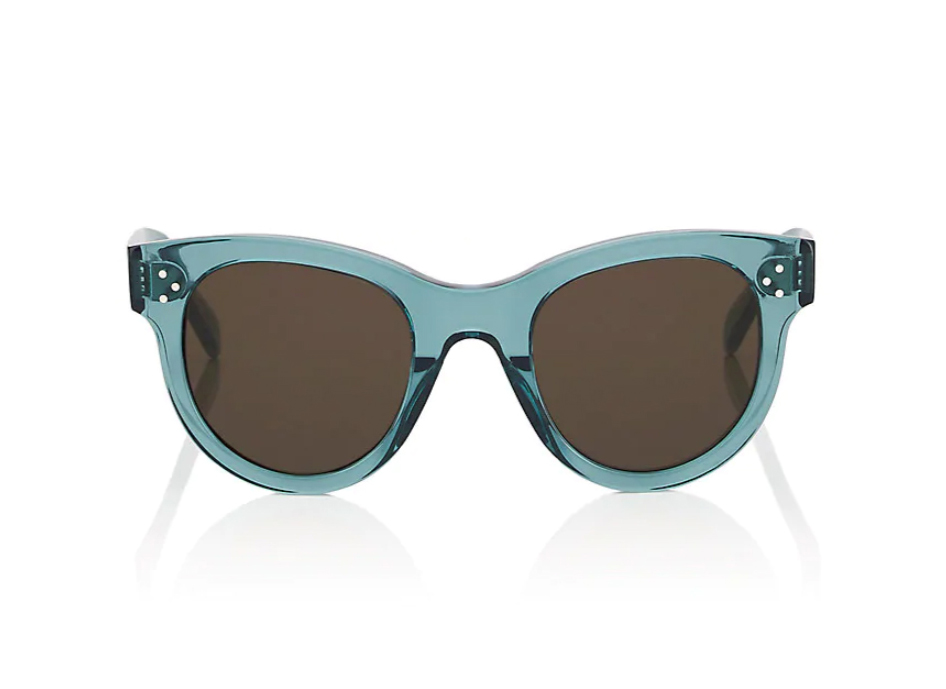 Céline Rounded Cat-Eye Sunglasses blue