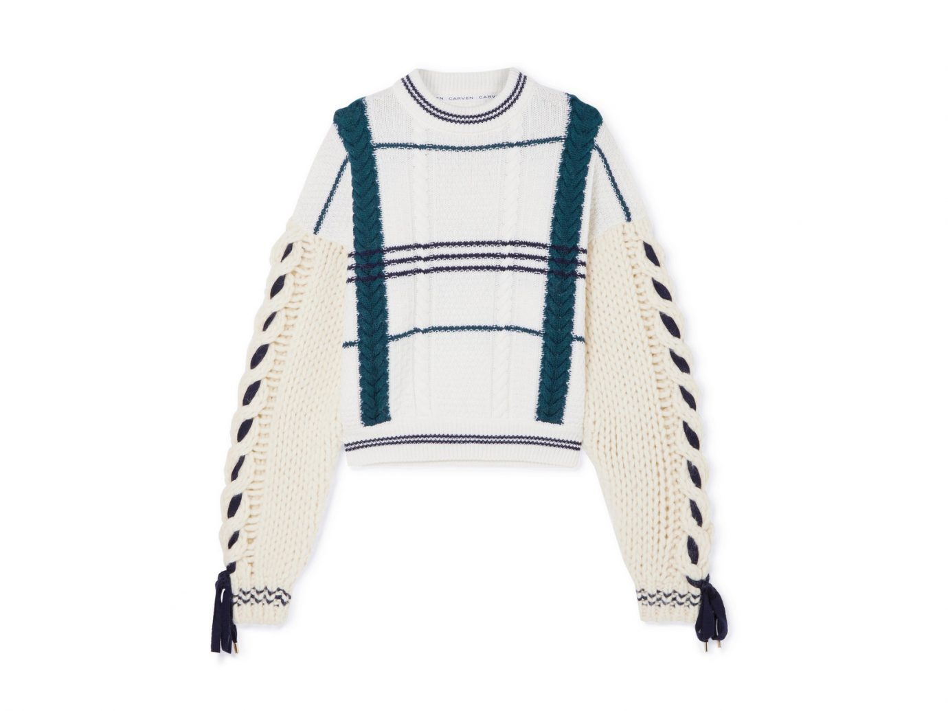 • CARVEN Cable-knit wool and alpaca-blend sweater