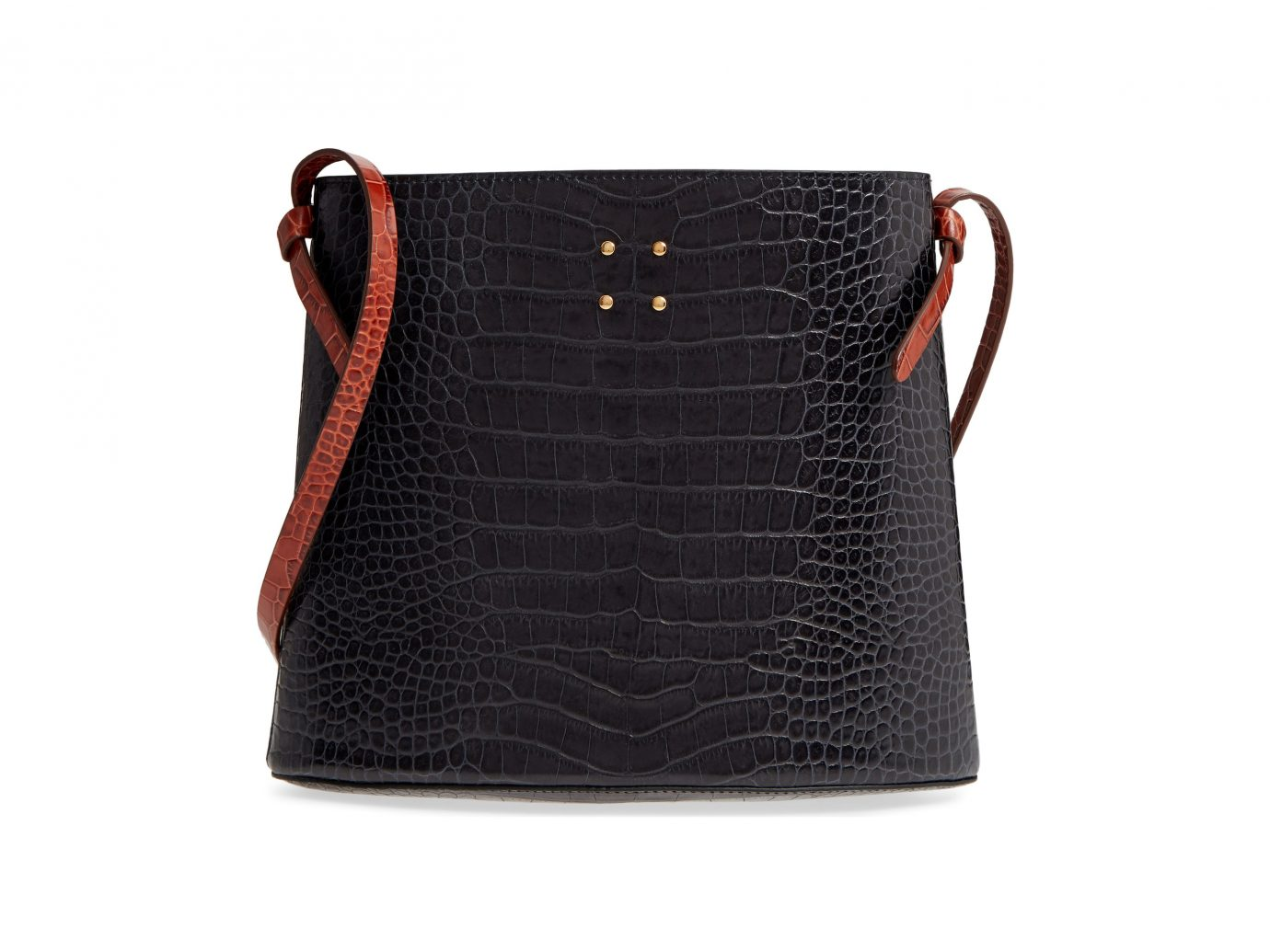 Sybil Croc Embossed Leather Tote, Main, color, Chocolate Brown Sybil Croc Embossed Leather Tote