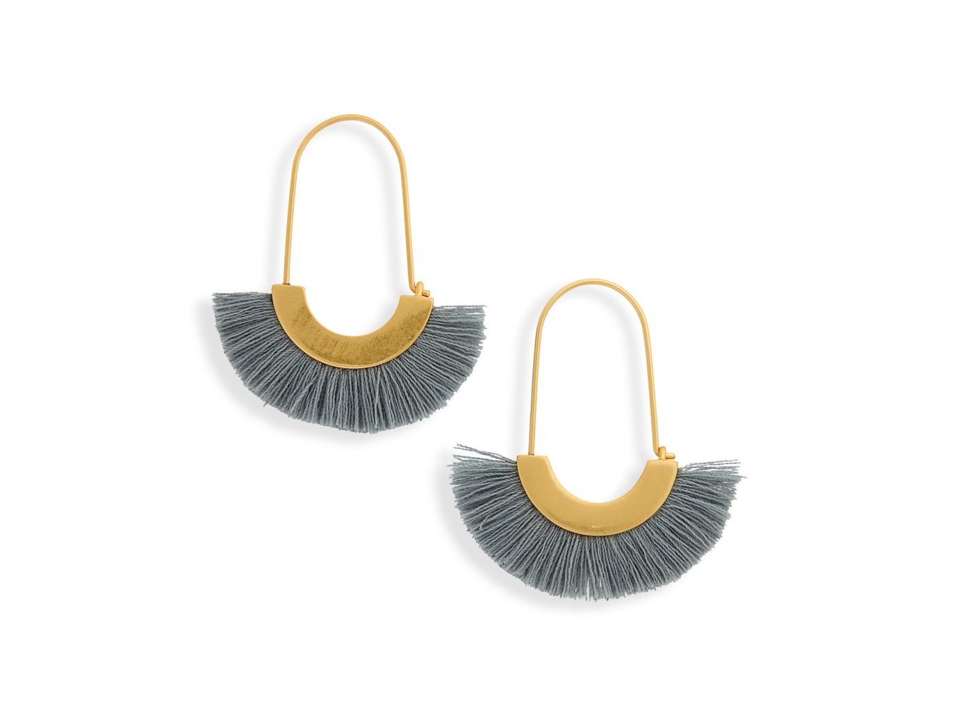 madewell Arc Wire Fringe Earrings, Main, color, Antique Blue Arc Wire Fringe Earrings