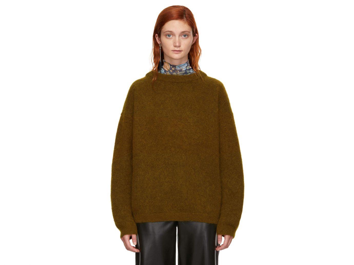 Acne Studios Brown Wool Dramatic Sweater