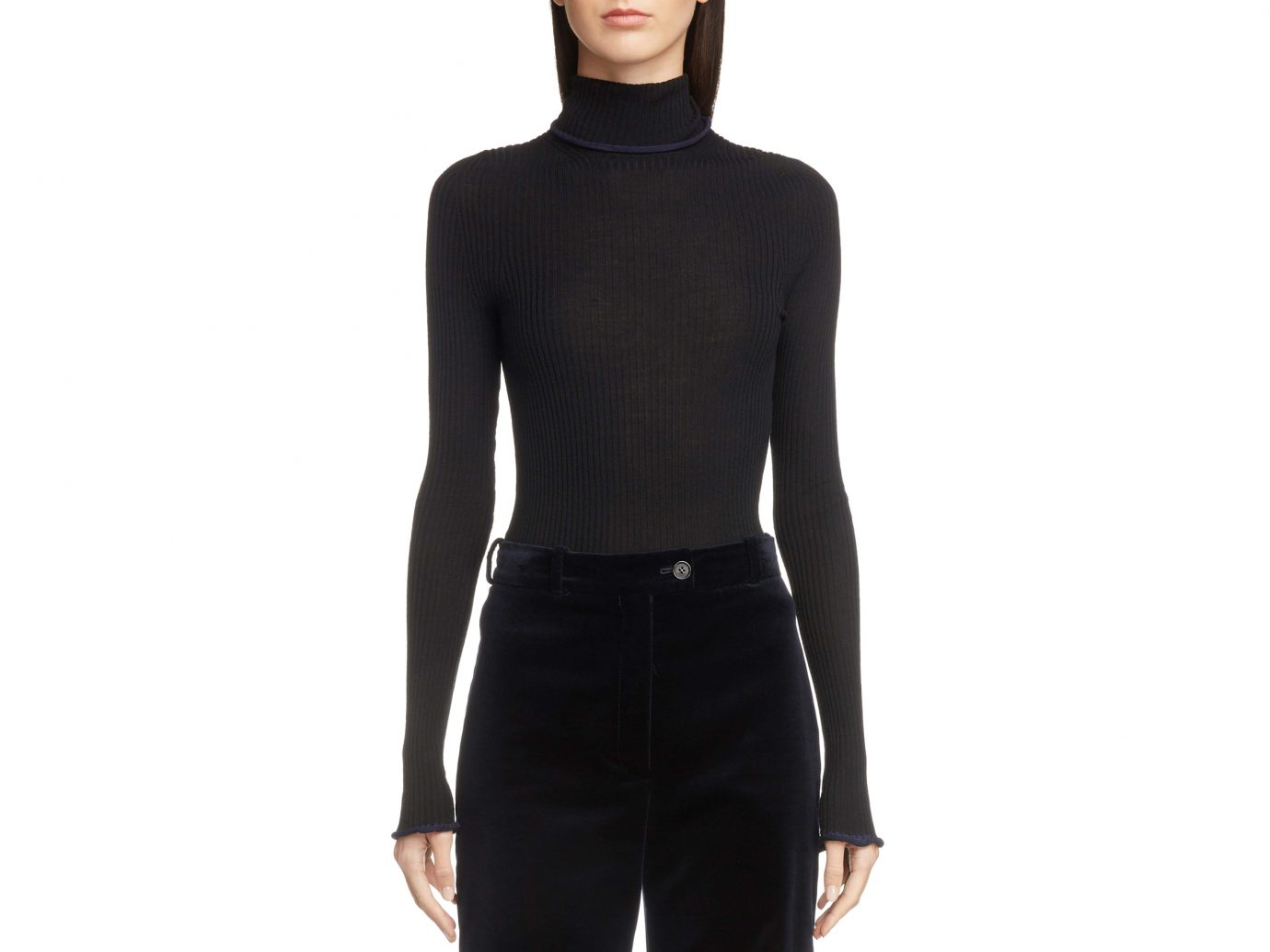 ACNE STUDIOS Ribbed Wool Turtleneck Sweater