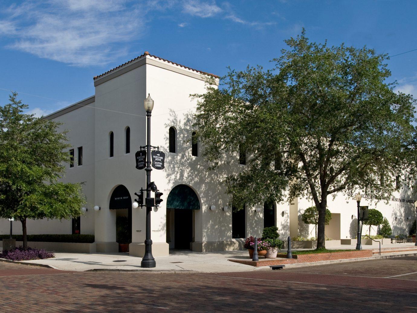Exterior of the Charles Hosmer Morse Museum of American Art, Orlando, FL