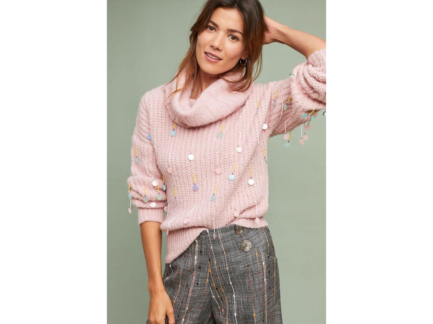 Anthropologie Sequin Turtleneck Sweater