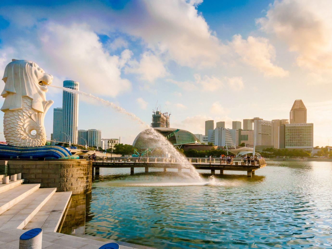 View of Merlion Park in Singapore