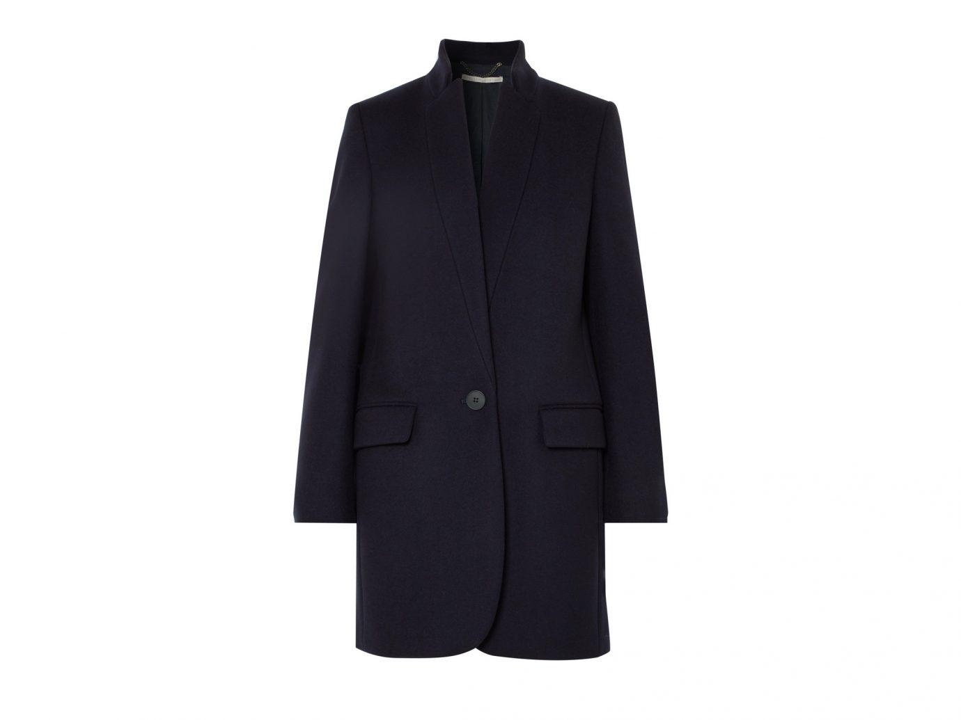 Stella McCartney Navy wool-blend coat