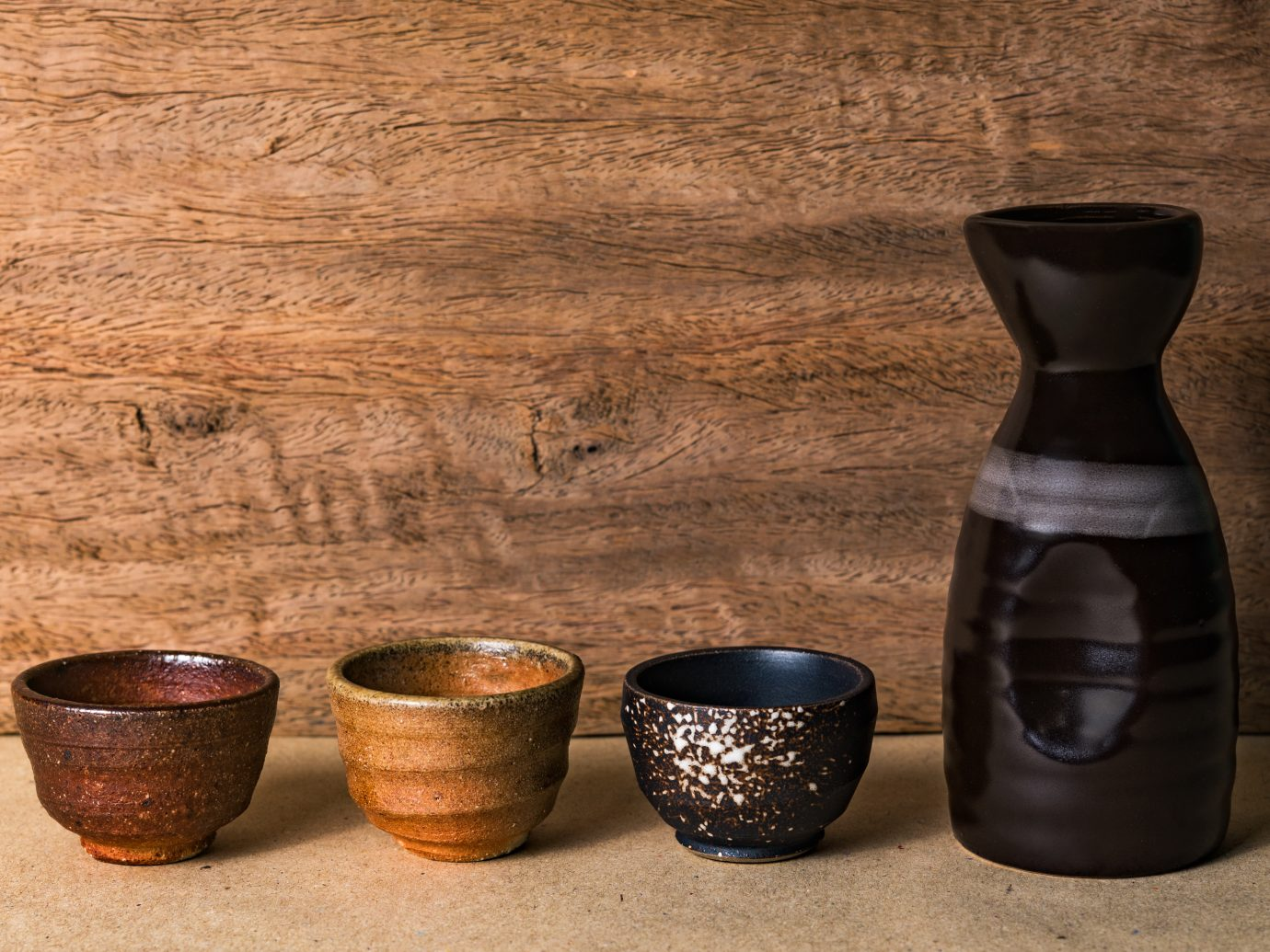 beautiful japanese pottery sake set