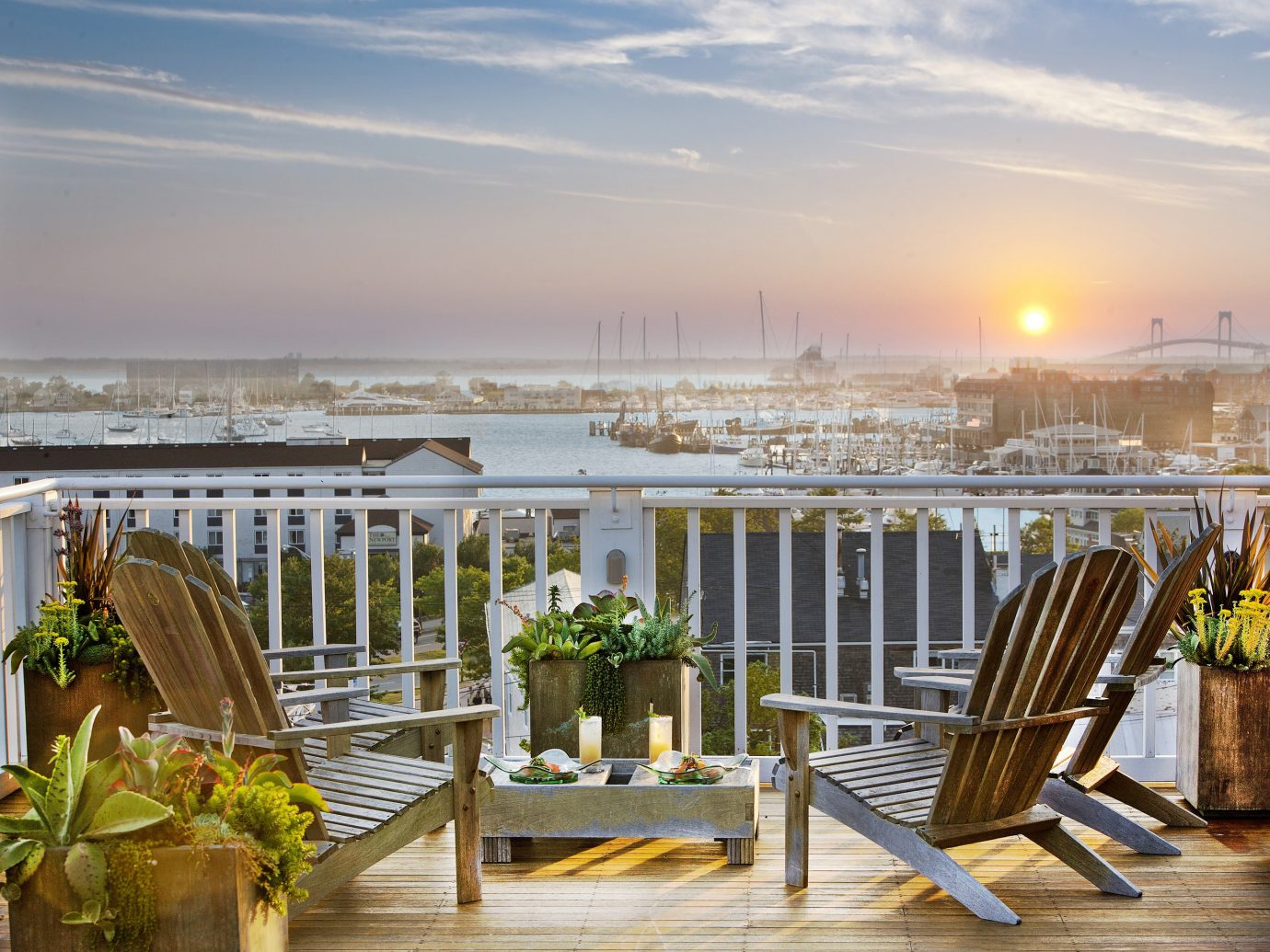 The Roof Deck at the Grace Vanderbilt, Newport