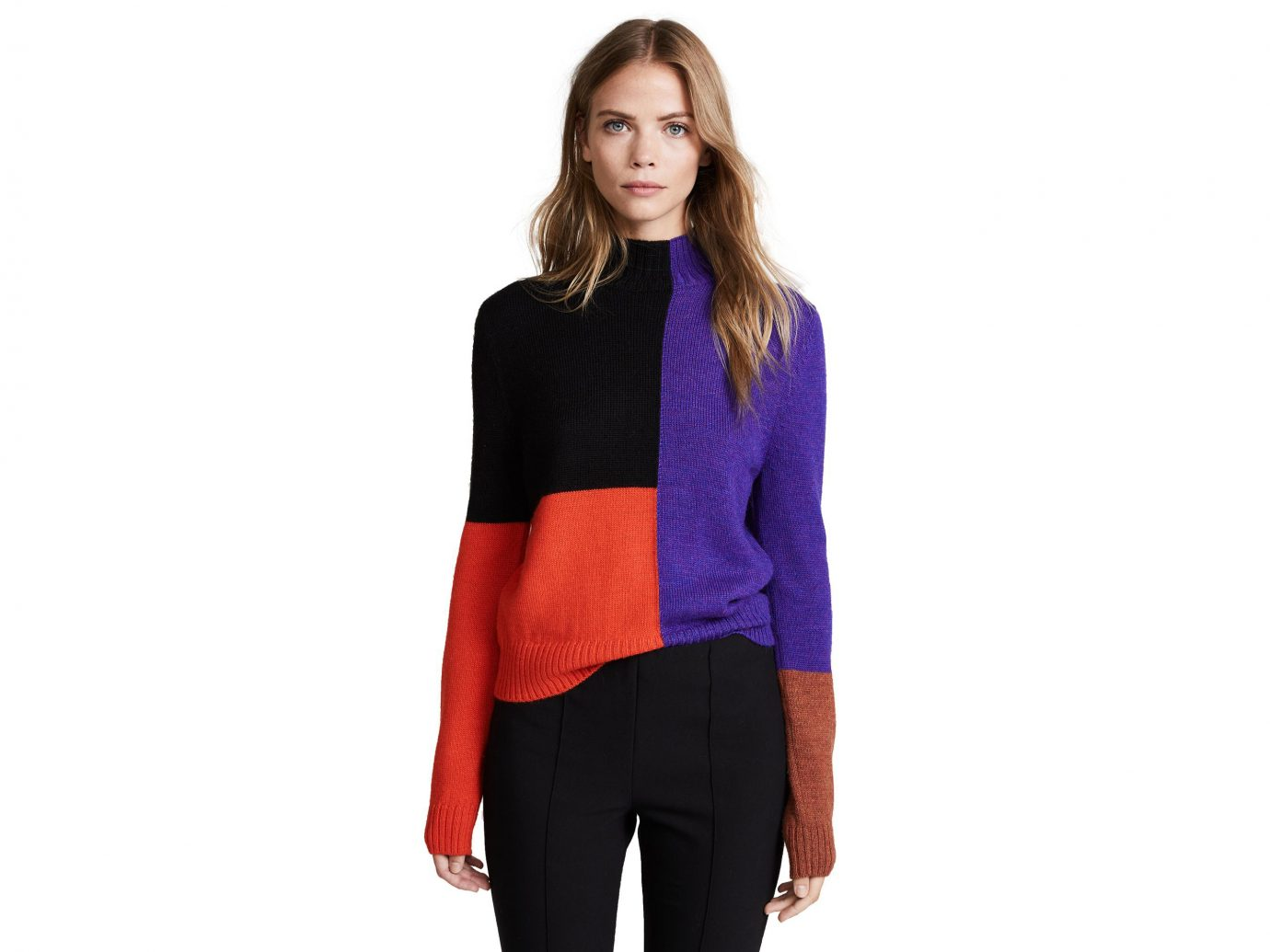 Mara Hoffman Janet Turtleneck colorblock Sweater