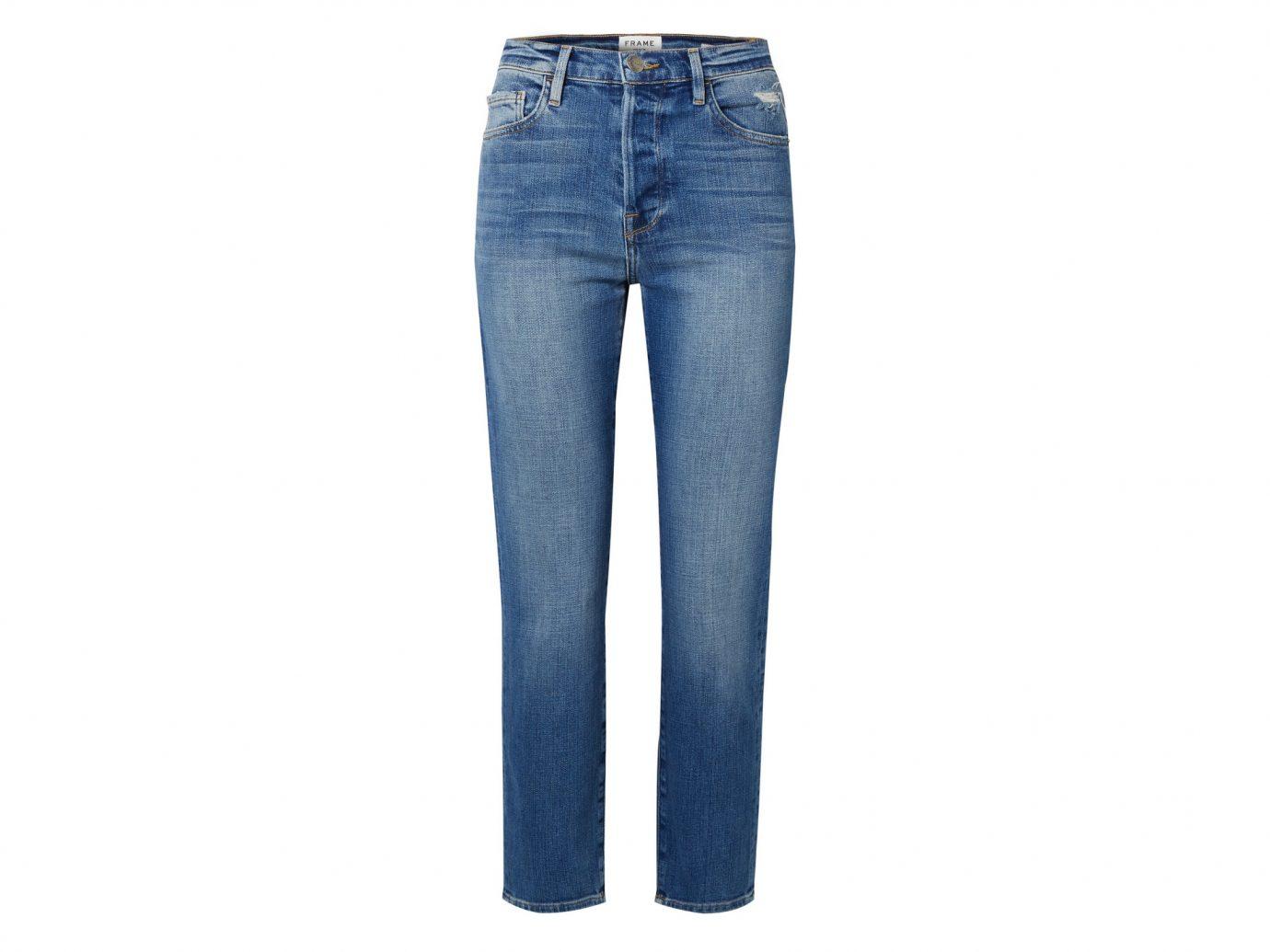 Frane Le Original cropped high-rise straight-leg jean