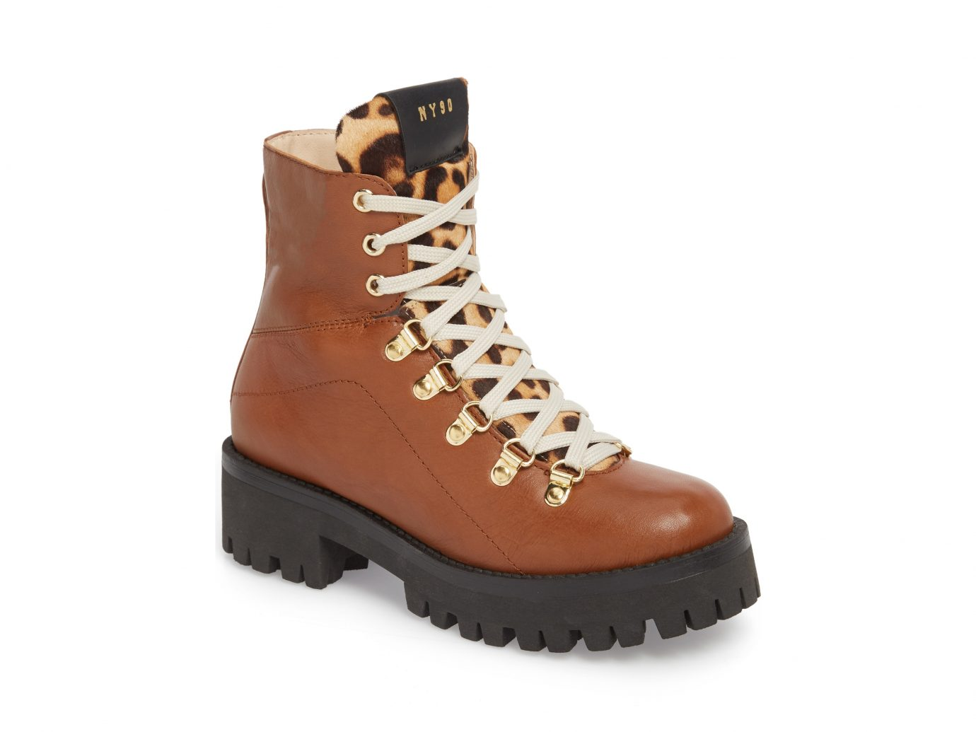 Hiking boots: Steve Madden Boom Hiker Boot with Genuine Calf Hair