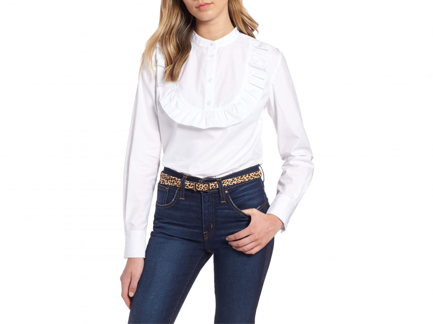 1901 Ruffle Trim top