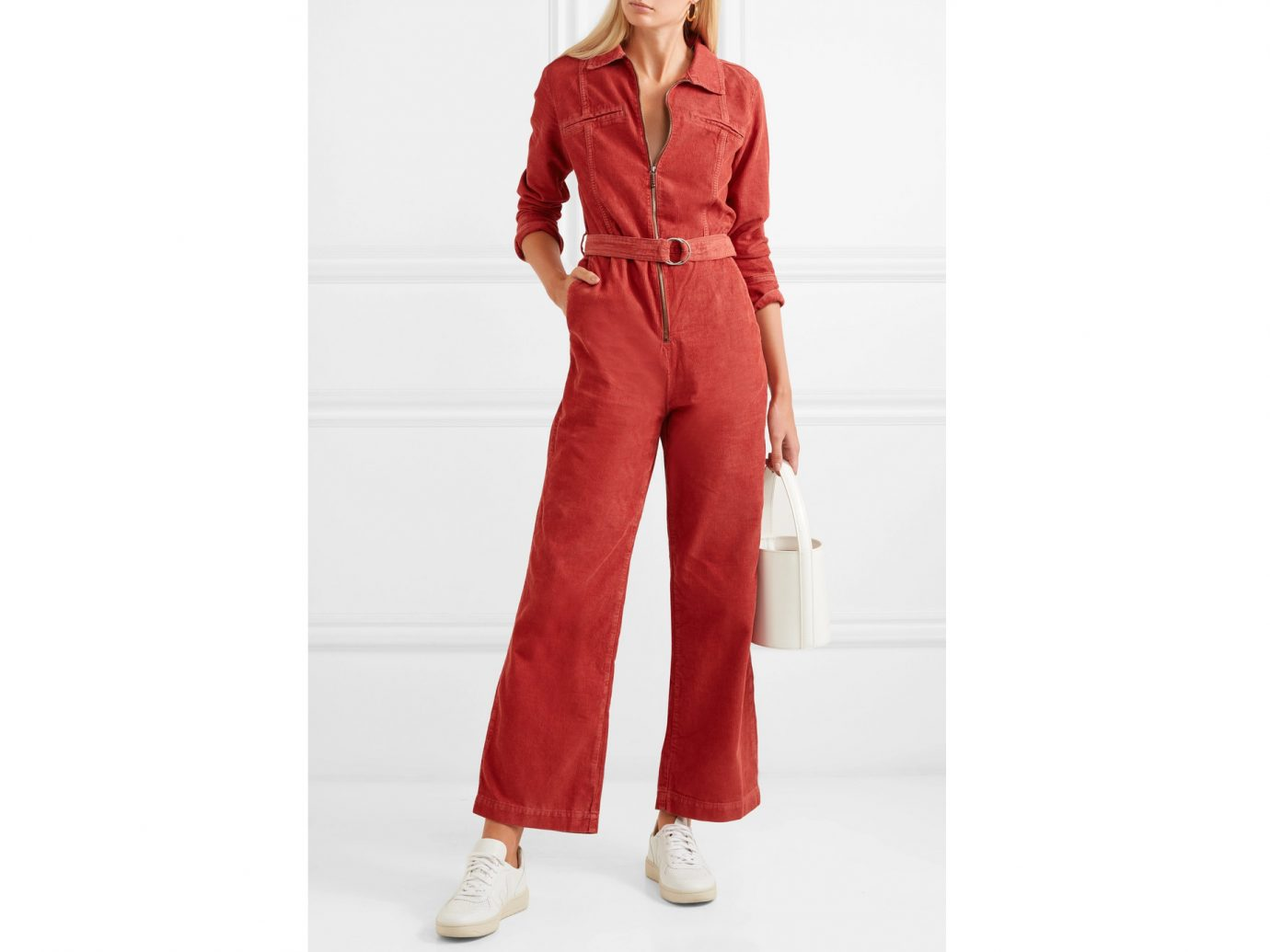 M.I.H JEANS Drayson belted cotton-corduroy jumpsuit