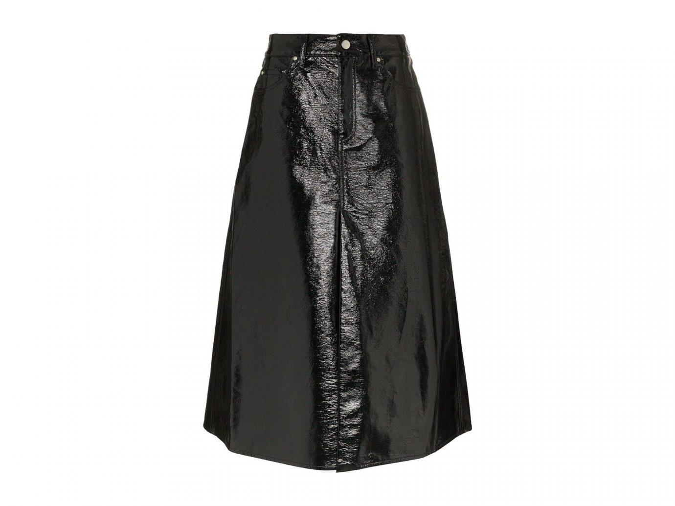 Beaufille Lantona A-Line Vinyl Cotton-Blend Skirt
