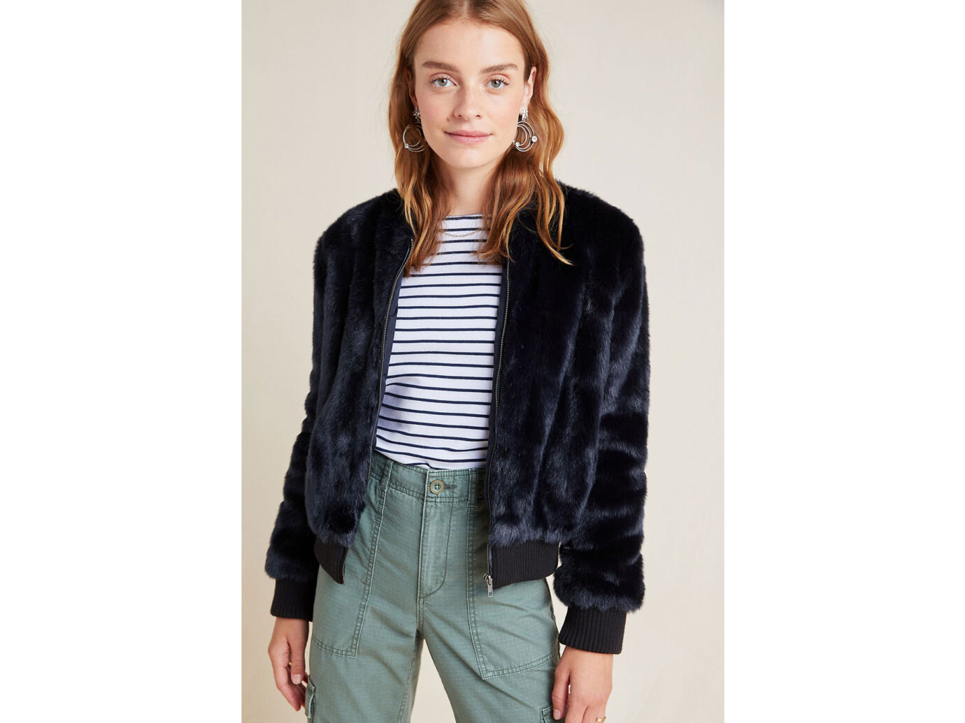 Cupcakes and Cashmere Faux Fur Bomber