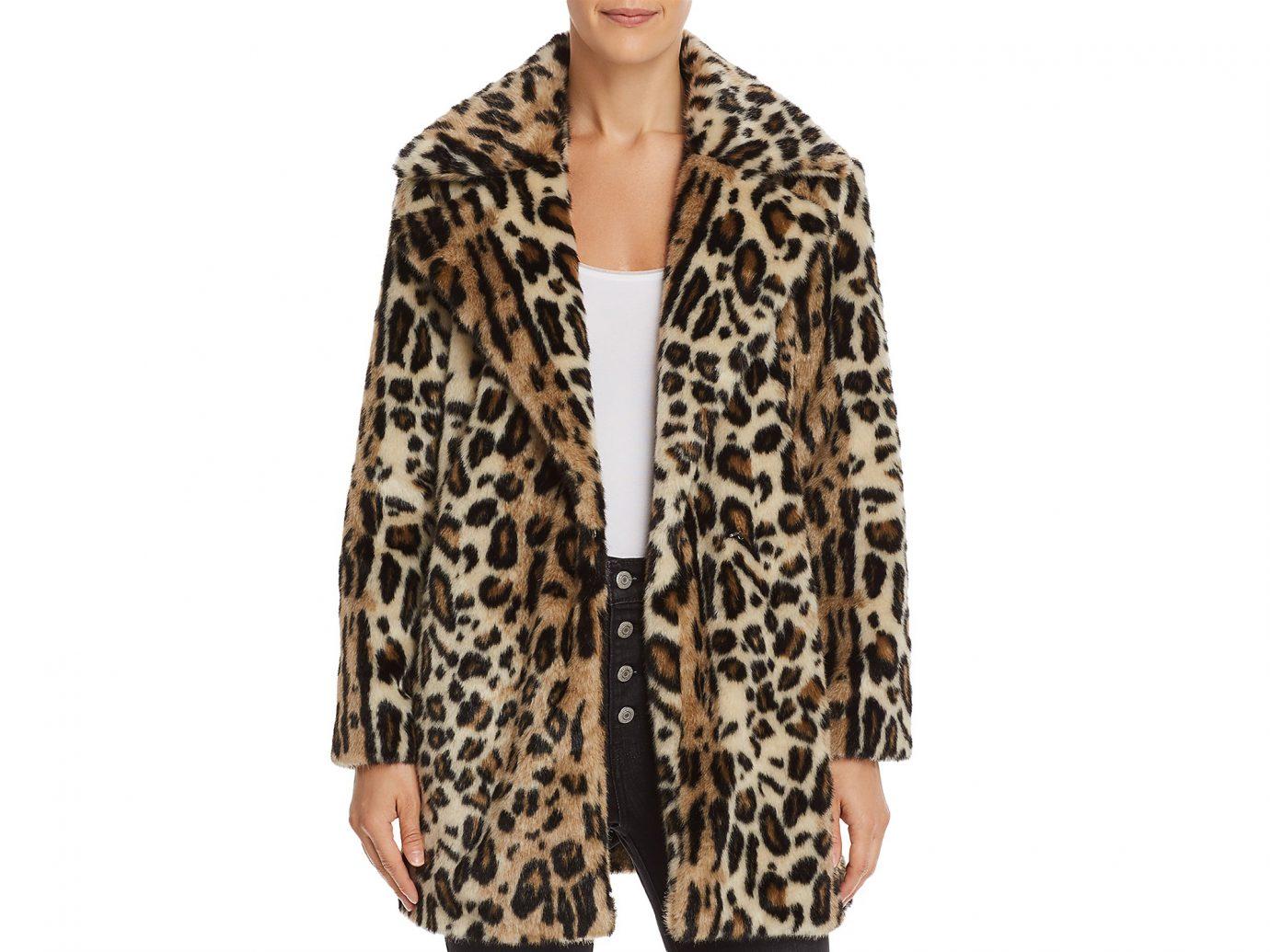 Frame Leopard print Faux Fur Coat