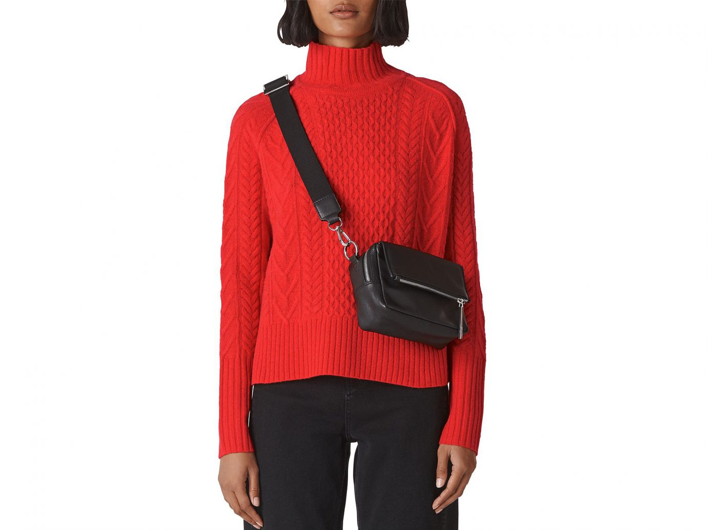 Whistles Merino Wool Cable Sweater