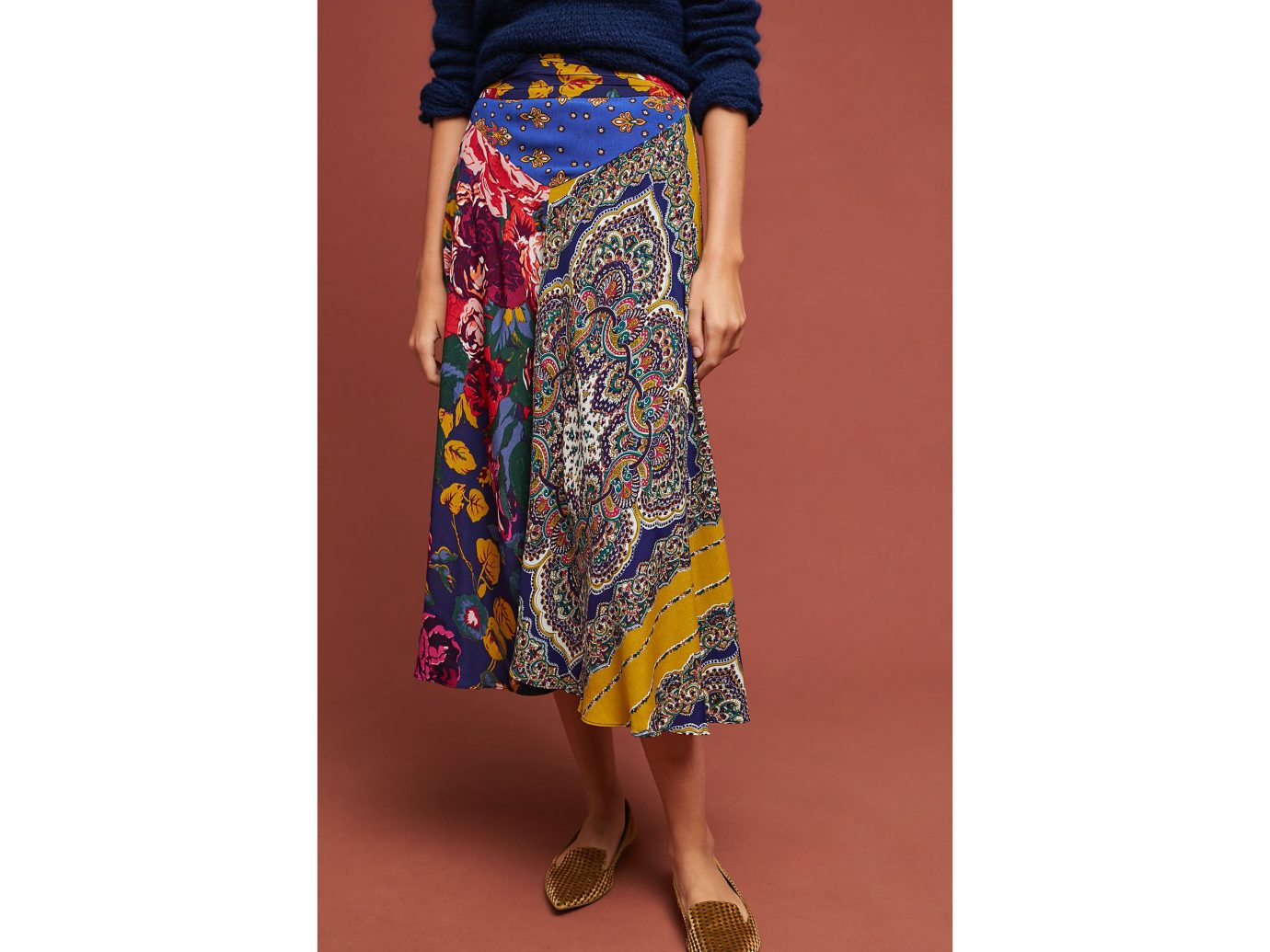 Anthropologie Patchwork Skirt