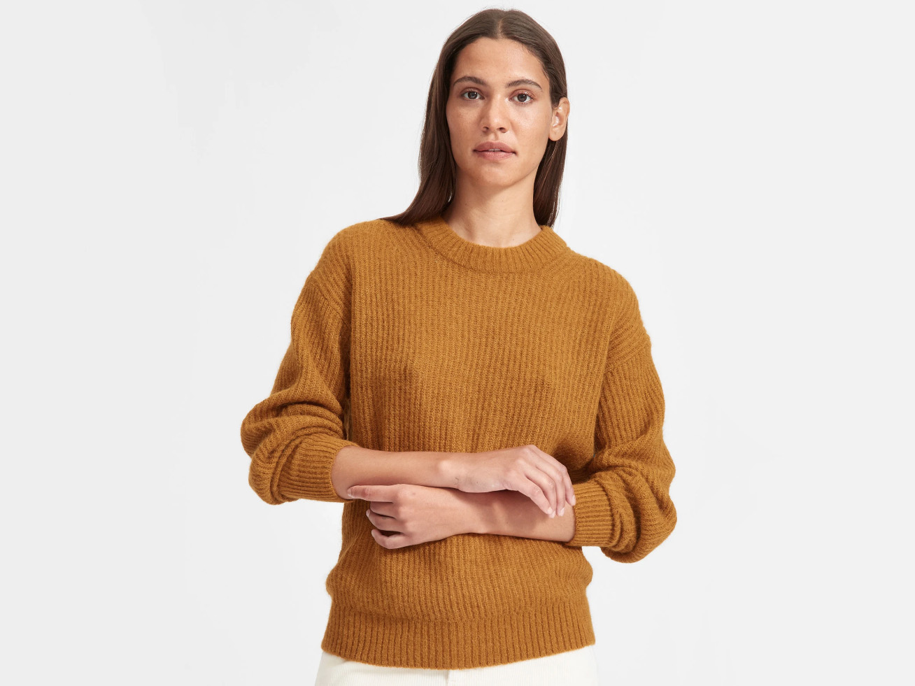 Everlane The Oversized Alpaca Crew Sweater