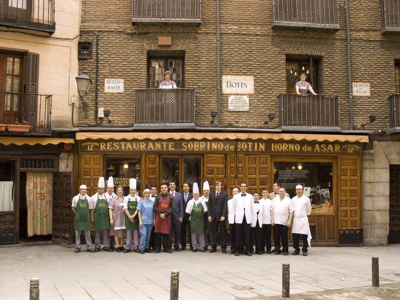 exterior of Botin restaurant