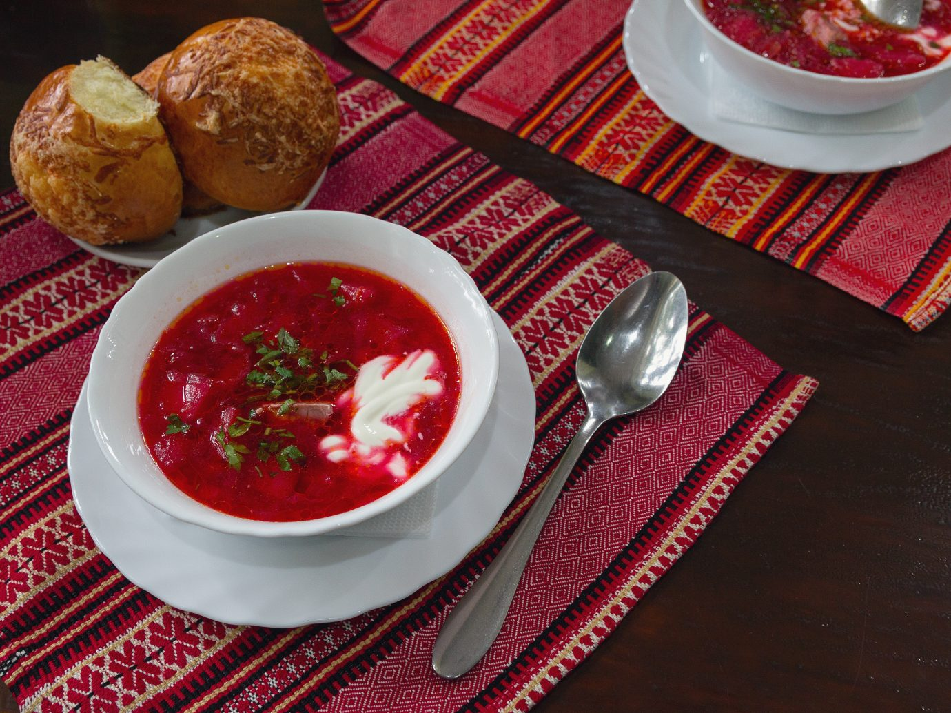 Borscht at Pervak in Kiev, Ukraine