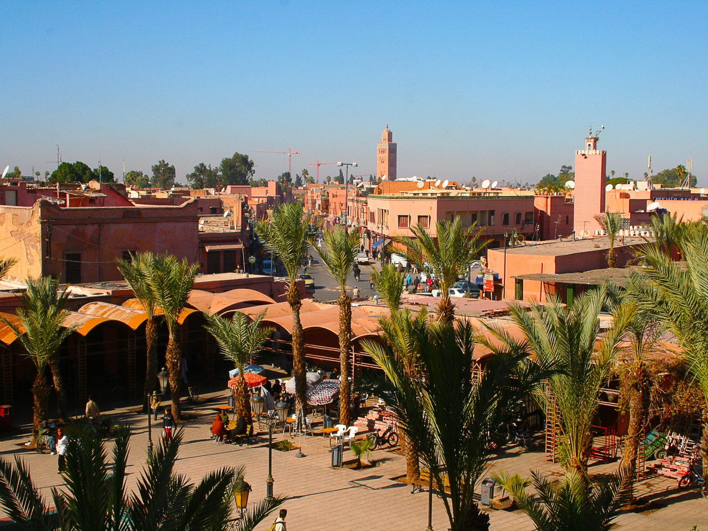 Marrakesh's Medina quarter in Morocco, Northern Africa