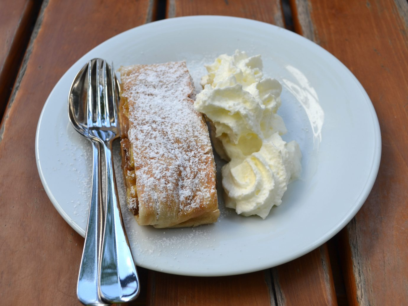 Apple Strudel at Café Savoy in Prague, Czech Republic