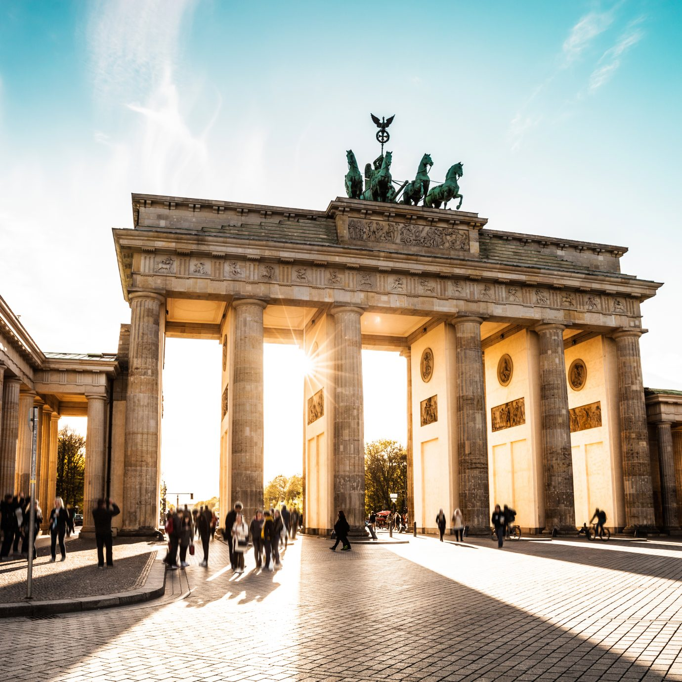 Berlin cityscape at sunset - Brandenburg Gate