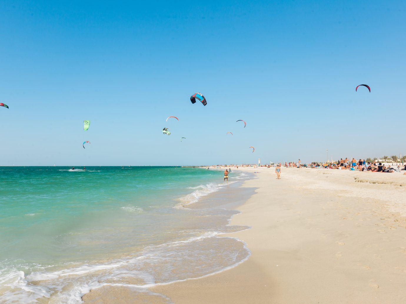 Kiteboarding at Kite Beach in Dubai 2015