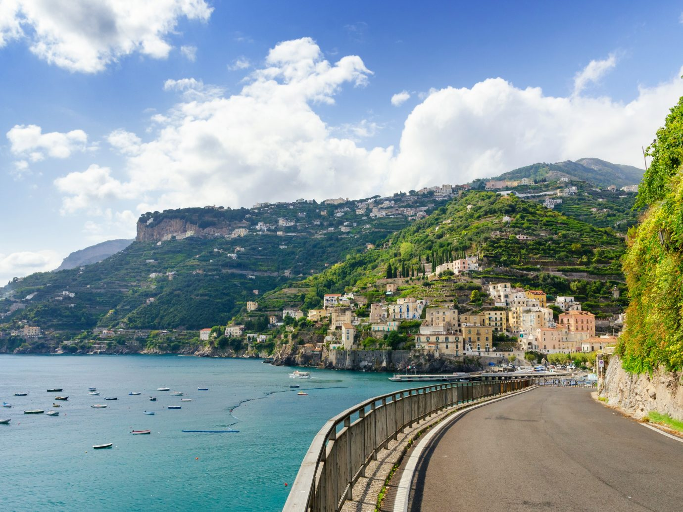 beautiful view on amalfi coast in south ital