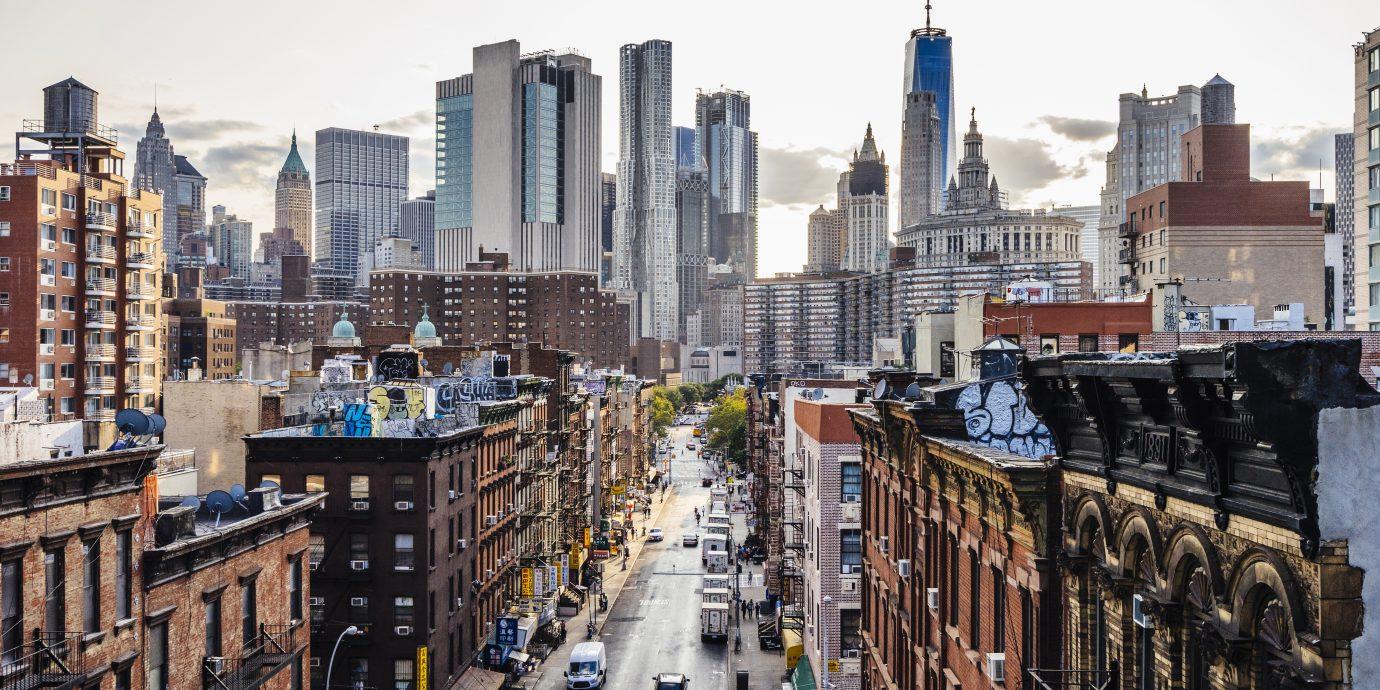 Lower Manhattan cityscape