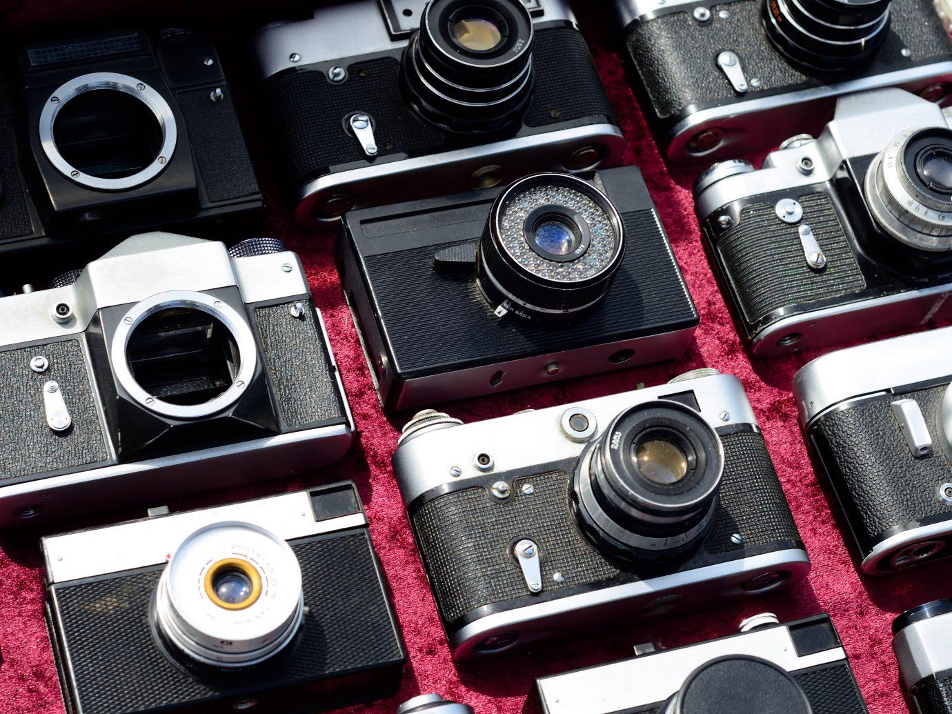 Many old cameras