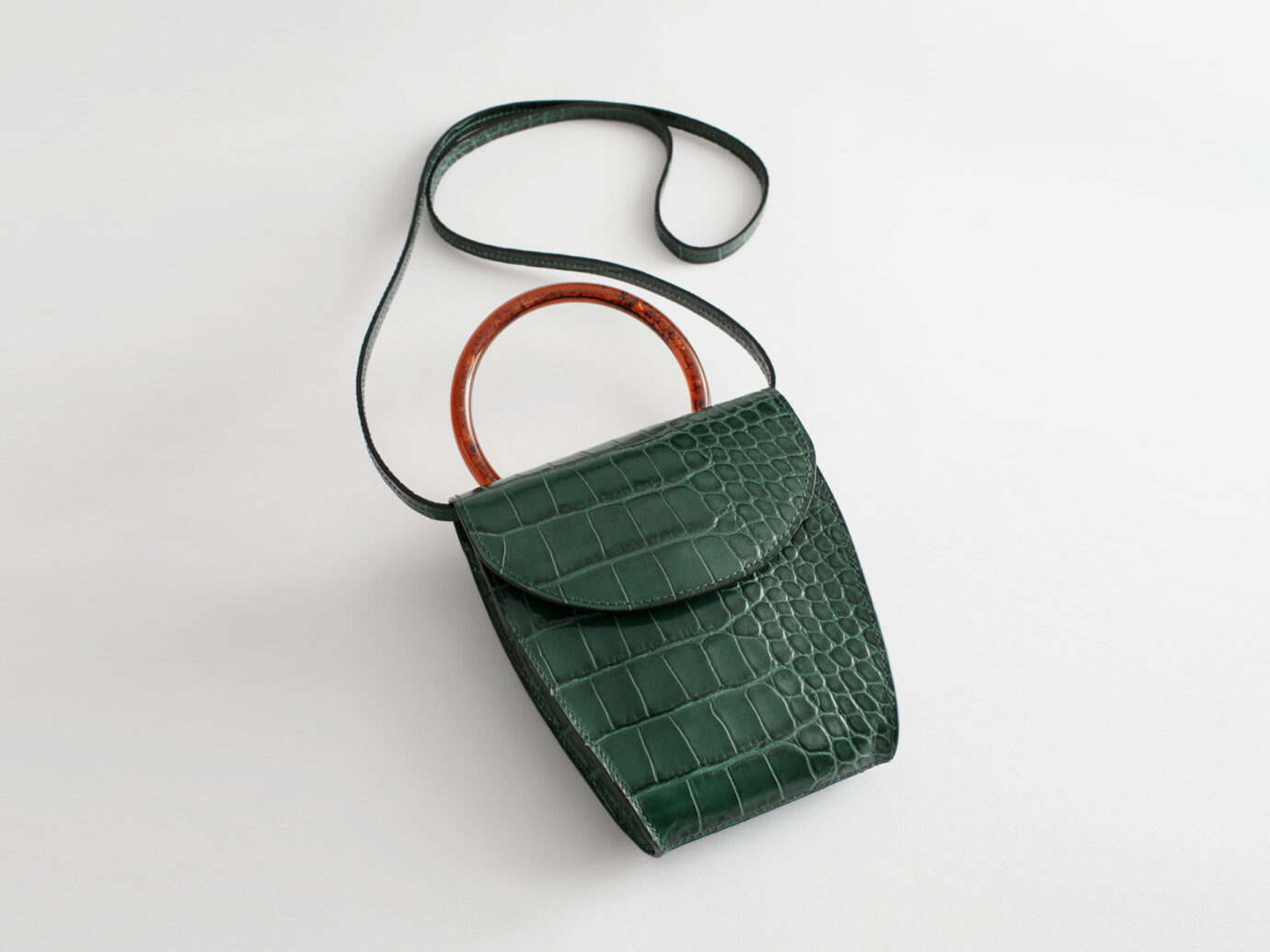 & Other Stories Resin Handle Croc Bag