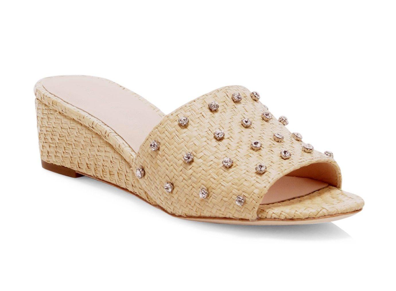 Loeffler Randall Tilly Raffia Wedge Sandals