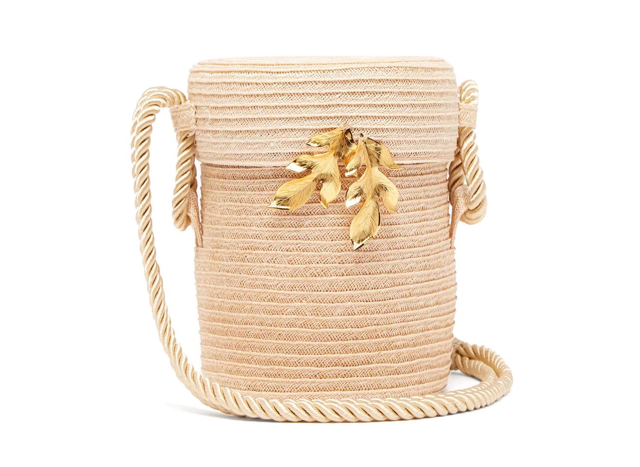 Rebecca De Ravenel Embellished Straw Bag in Neutral