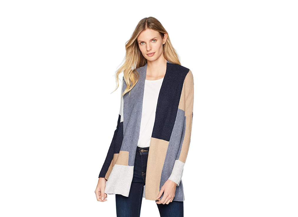 Lucky Brand Women's Color Block Cardigan Sweater