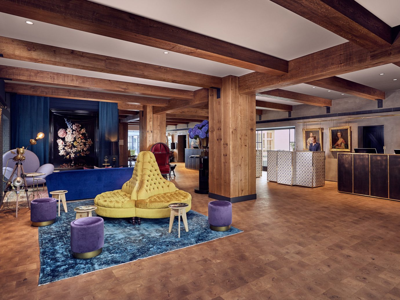 Lobby at The Pulitzer, Amsterdam