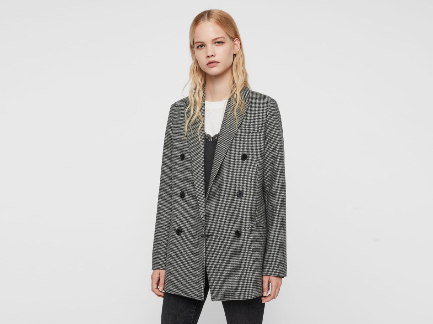 All Saints Astrid Puppytooth Blazer