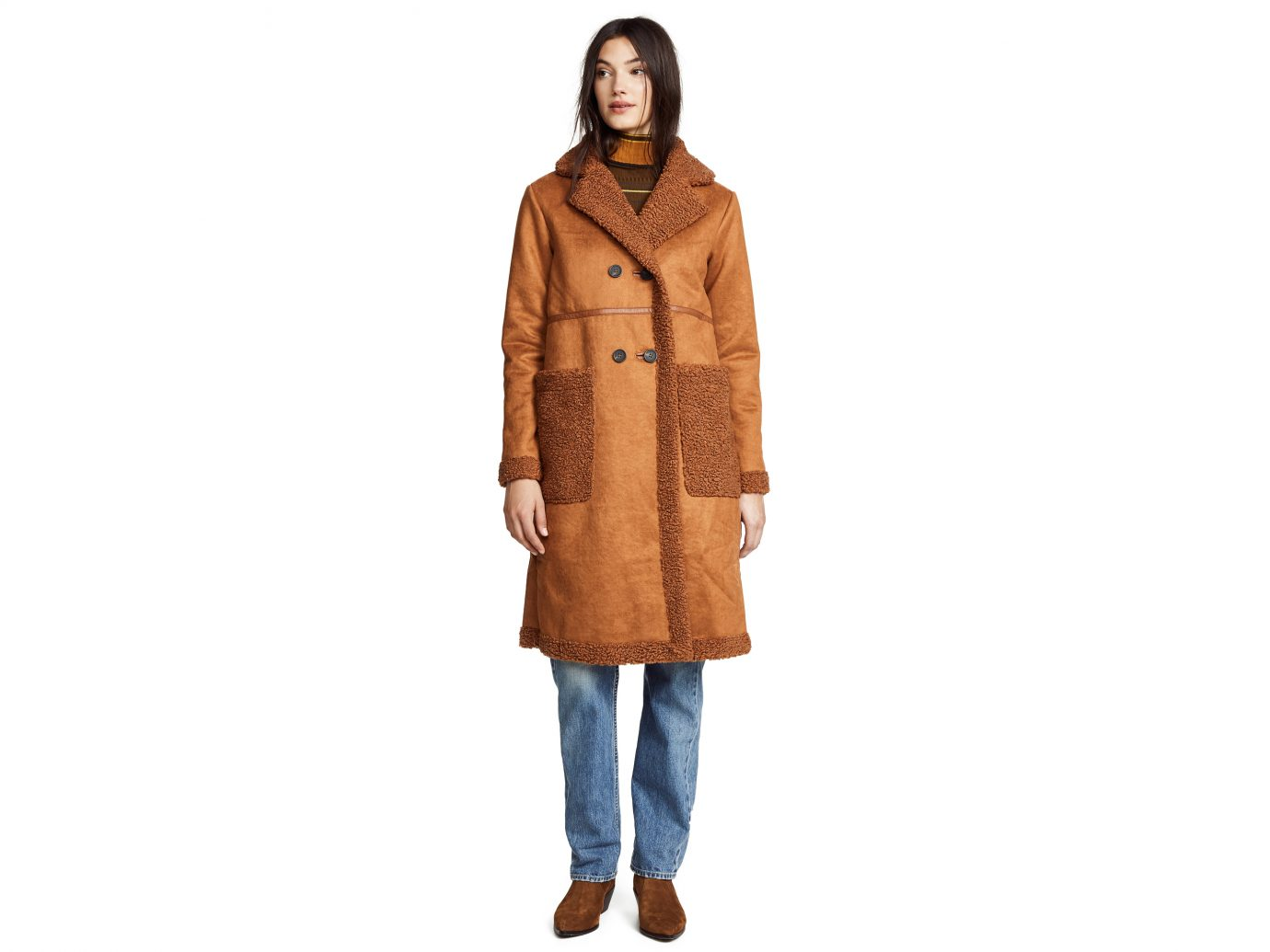 Apparis Clothilde Faux Shearling Car Coat