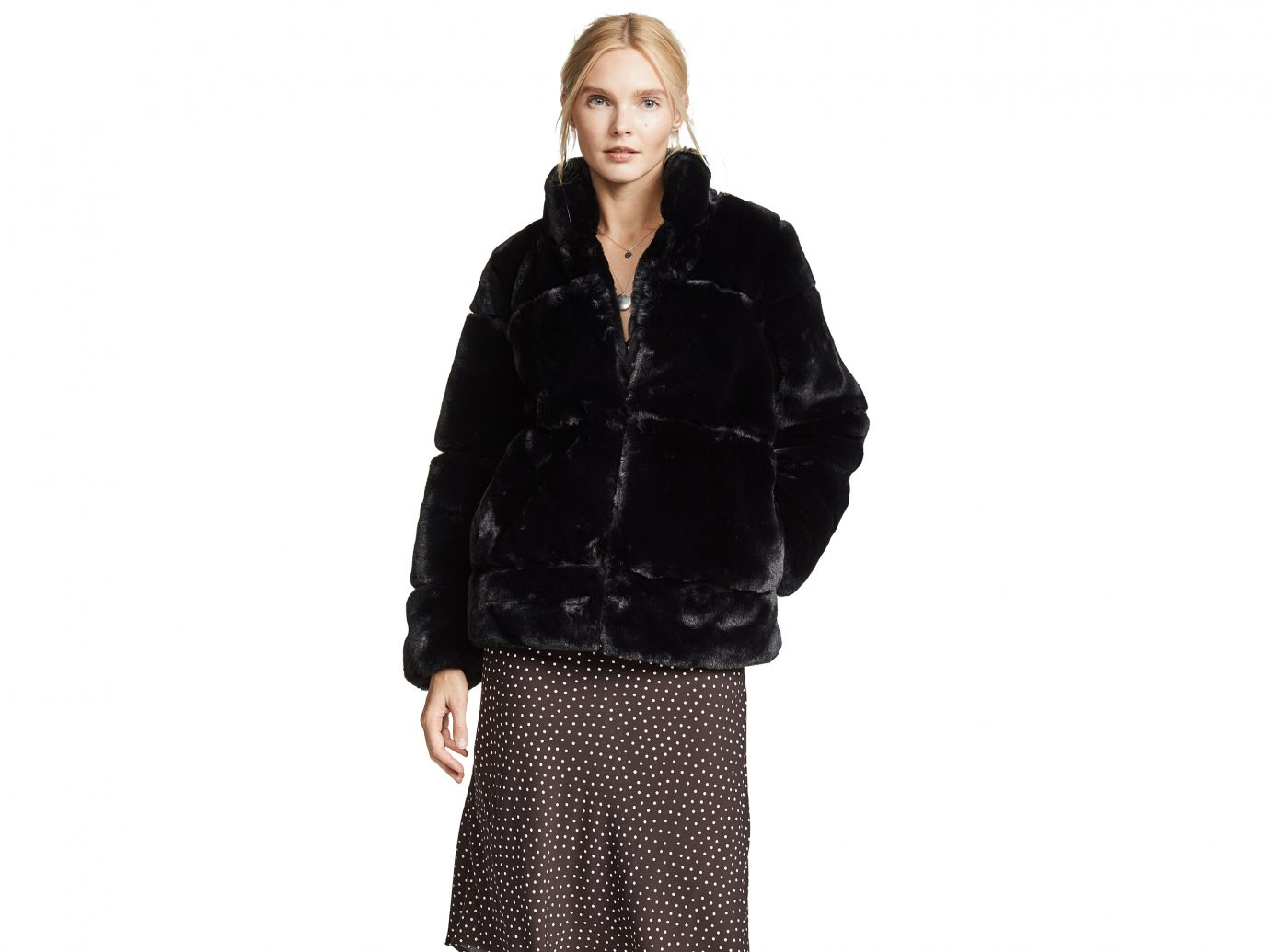 pparis Sarah Quilted Fur Coat